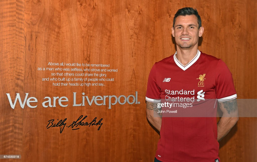 Dejan Lovren Signs New Contract With Liverpool FC : ニュース写真
