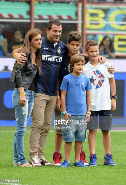 Dejan Stankovic his wife Ana Acimovic and their sons Stefan Stankovic Aleksander Stankovic and Filip Stankovic say goodbye to the FC Inter Milan...