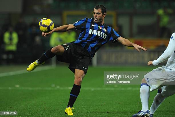 Dejan Stankovic of FC Internazionale Milano in action during the Serie A match between FC Internazionale Milano and UC Sampdoria at Stadio Giuseppe...