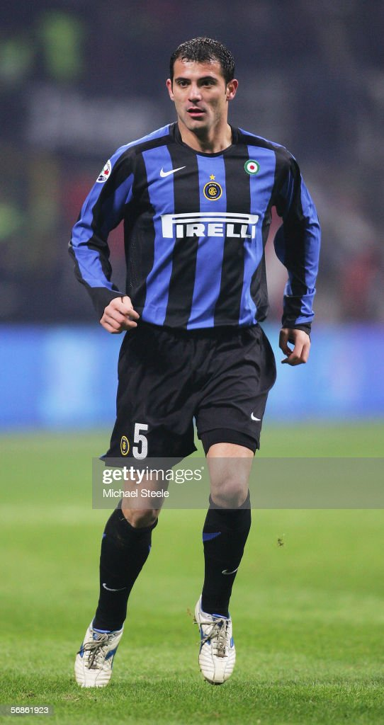 Dejan Stankovic of Inter Milan in action during the Serie A match between Inter Milan and Juventus at the Stadio San Siro on February 12, 2006 in Milan, Italy.