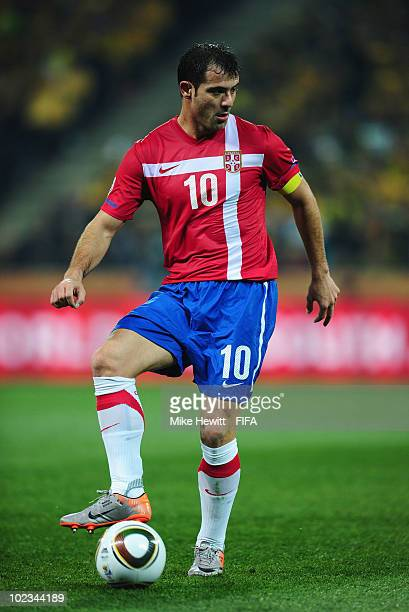 Dejan Stankovic of Serbia in action during the 2010 FIFA World Cup South  Africa Group D 26400ddd5c155