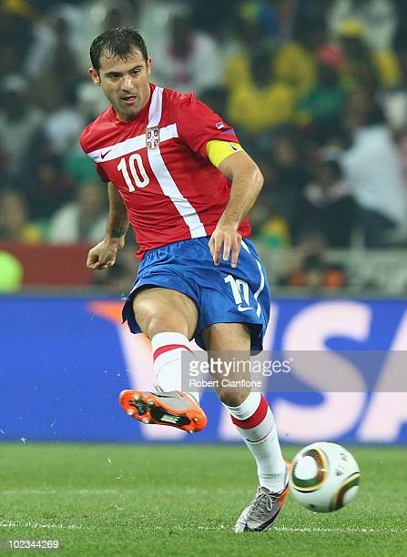 Dejan Stankovic of Serbia passes the ball during the 2010 FIFA World Cup  South Africa Group ee12b8c413080