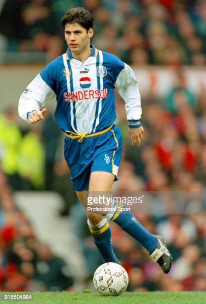 Dejan Stefanovi of Sheffield Wednesday in action during the FA Carling Premiership match between Manchester United and Sheffield Wednesday at Old...