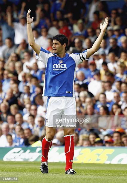 Dejan Stefanovic of Portsmouth during the Barclays Premiership match between Portsmouth and Wigan Athletic at Fratton Park, on September 9, 2006 in...