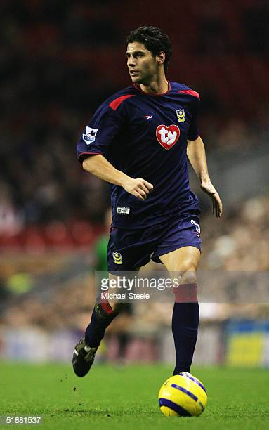 Dejan Stefanovic of Portsmouth in action during the Barclays Premiership match between Liverpool and Portsmouth at Anfield on December 14, 2004 in...