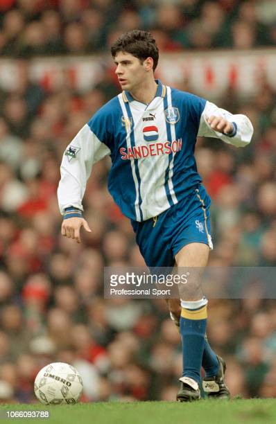 Dejan Stefanovic of Sheffield Wednesday in action during the FA Carling Premiership match between Manchester United and Sheffield Wednesday at Old...
