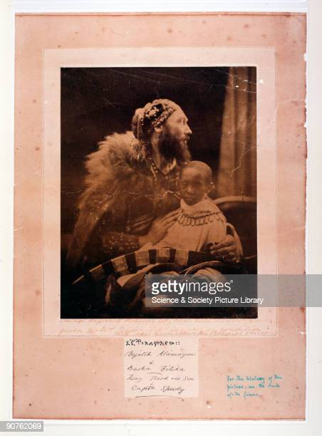 'Dejatch Alamayou and Basha Felika King Theodore's Son and Captain Speedy' Photograph by Julia Margaret Cameron of Alamayou the son of King Theodore...