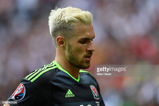 A dejected Aaron Ramsey of Wales during the UEFA Euro 2016 Group B match between England and Wales at Stade BollaertDelelis on June 16 2016 in Lens...