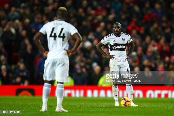 A dejected Aboubakar Kamara of Fulham during the Premier League match between Manchester United and Fulham FC at Old Trafford on December 8 2018 in...
