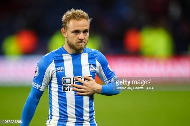 Dejected Alex Pritchard of Huddersfield Town at full time during the Premier League match between Huddersfield Town and Brighton & Hove Albion at...