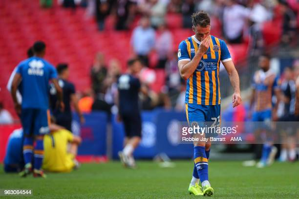 A dejected Alex Rodman of Shrewsbury Town during the Sky Bet League One Play Off Final between Rotherham United and Shrewsbury Town at Wembley...