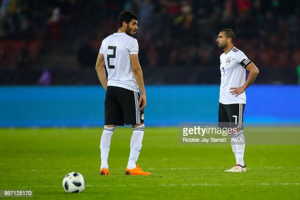 A dejected Aly Gabr of Egypt and Ahmed Fathi of Egypt during the International Friendly match between Portugal and Egypt at Stadion Letzigrund on...
