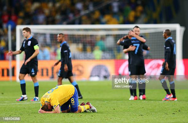 Dejected Anders Svensson of Sweden after defeat in the UEFA EURO 2012 group D match between Sweden and England at The Olympic Stadium on June 15,...