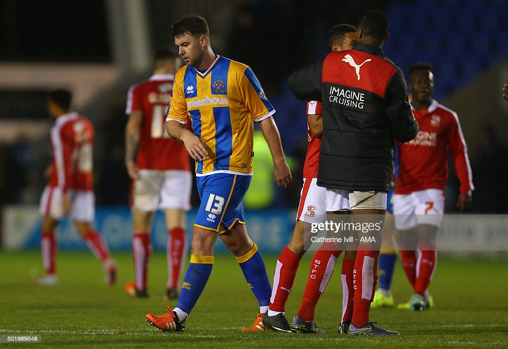 A dejected Anthony Gerrard of Shrewsbury Town walks off after the Sky Bet League One match between Shrewsbury Town and Swindon Town at New Meadow on December 19, 2015 in Shrewsbury, United Kingdom.