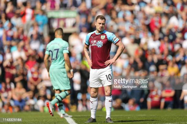 A dejected Ashley Barnes of Burnley during the Premier League match between Burnley FC and Arsenal FC at Turf Moor on May 12 2019 in Burnley United...