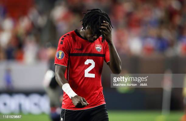 A dejected Aubrey David of Trinidad and Tobago during the Group D 2019 CONCACAF Gold Cup fixture between United States of America and Trinidad Tobago...