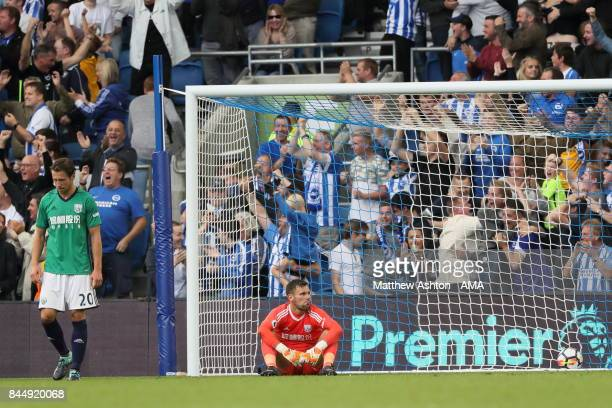 A dejected Ben Foster of West Bromwich Albion after Brighton scored a goal to make it 30 during the Premier League match between Brighton and Hove...