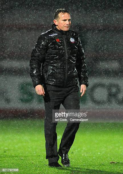 A dejected Bolton Wanderers manager Phil Parkinson at the final whistle during the Checkatrade Trophy Northern Group A match between Cheltenham Town...