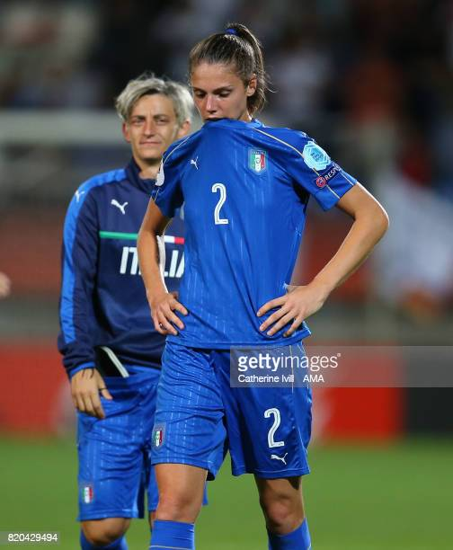 A dejected Cecilia Salvai of Italy Women after the UEFA Women's Euro 2017 match between Germany and Italy at Koning Willem II Stadium on July 21 2017...
