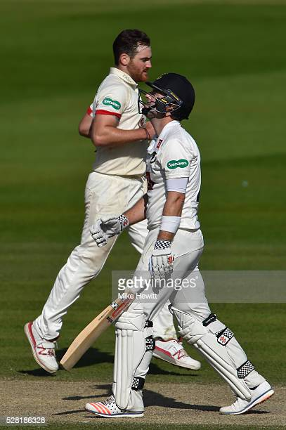 A dejected Chris Nash of Sussex is finally out for 144 caught behind off the bowling of Ben Raine of Leicestershire on the fourth day of the...