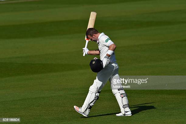 A dejected Chris Nash of Sussex is finally out for 144 on the fourth day of the Specsavers County Championship Division Two match between Sussex and...