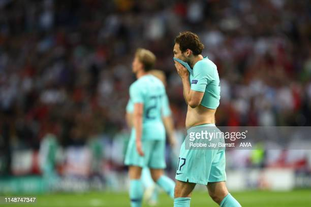 Dejected Daley Blind of Netherlands after Portugal scored a goal to make it 1-0 during the UEFA Nations League Semi-Final match between the...