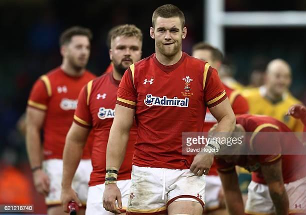 A dejected Dan Lydiate of Wales walks off the pitch following his team's 328 defeat during the international match between Wales and Australia at the...