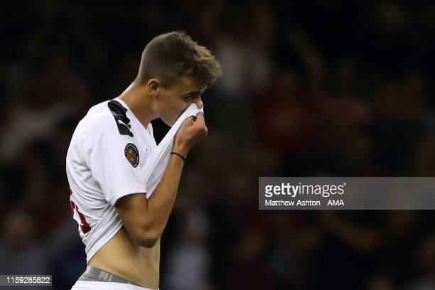 A dejected Daniel Maldini of AC Milan after he missed a penalty in the end of game shoot out during the 2019 International Champions Cup match...