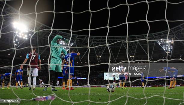 A dejected Dean Henderson of Shrewsbury Town after Reece Burke of West Ham United scored a goal to make it 10 during the Emirates FA Cup Third Round...
