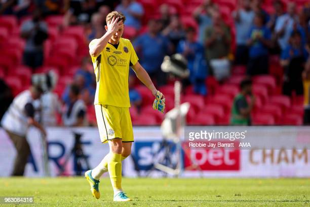 A dejected Dean Henderson of Shrewsbury Town during the Sky Bet League One Play Off Final between Rotherham United and Shrewsbury Town at Wembley...