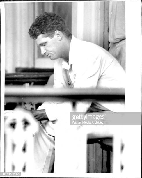 A dejected Dean Jones back in the Pavilion ***** December 20 1993