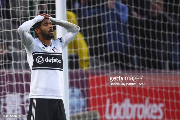 A dejected Denis Odoi of Fulham reacts after conceding an own goal to make it 21 during the Premier League match between Burnley FC and Fulham FC at...