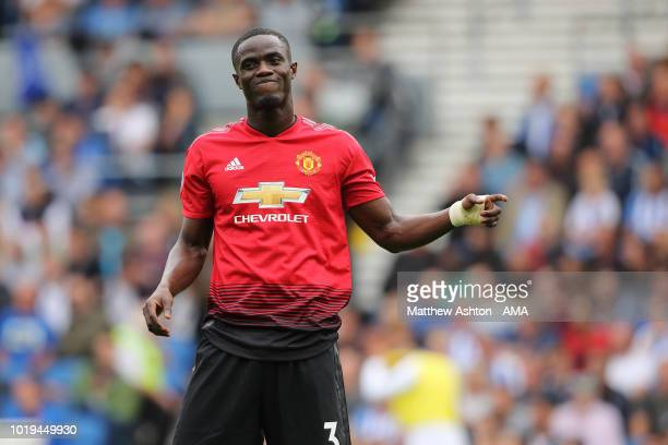 A dejected Eric Bailly of Manchester United during the Premier League match between Brighton Hove Albion and Manchester United at American Express...