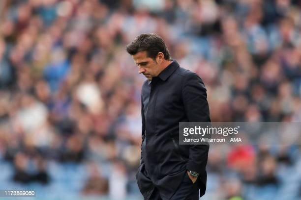 Dejected Everton manager / head coach Marco Silva during the Premier League match between Burnley FC and Everton FC at Turf Moor on October 5, 2019...