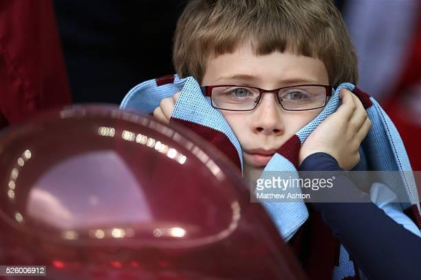 A dejected fan of Aston Villa