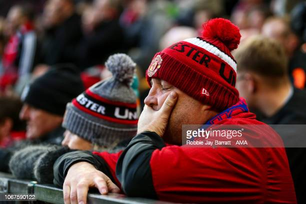 A dejected fan of Manchester United during the Premier League match between Manchester United and Crystal Palace at Old Trafford on November 24 2018...