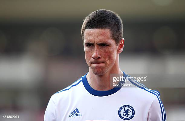 A dejected Fernando Torres of Chelsea walks off the pitch following his team's 10 defeat during the Barclays Premier League match between Crystal...