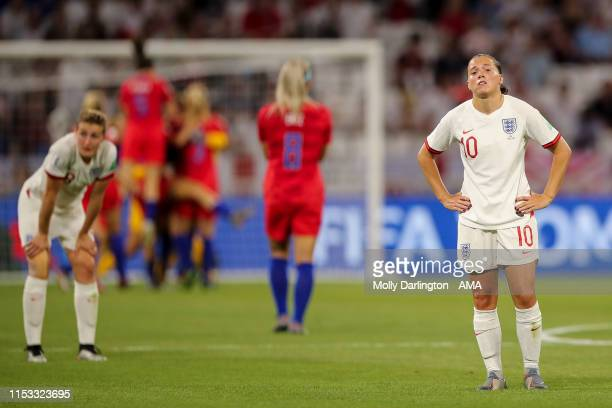 A dejected Fran Kirby of England reacts at full time during the 2019 FIFA Women's World Cup France Semi Final match between England and United States...
