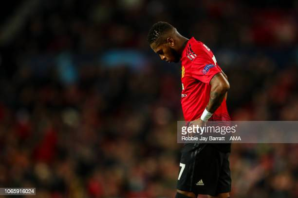 A dejected Fred of Manchester United during the Group H match of the UEFA Champions League between Manchester United and BSC Young Boys at Old...