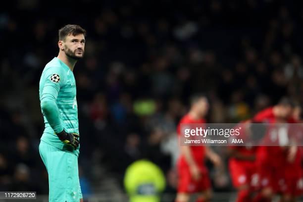 A dejected Hugo Lloris of Tottenham Hotspur after Bayern Munich score Sevenduring the UEFA Champions League group B match between Tottenham Hotspur...