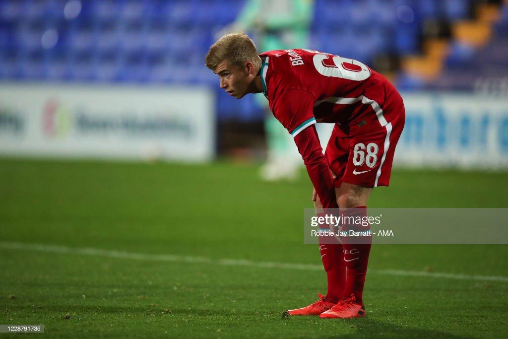 Tranmere Rovers v Liverpool U21 - EFL Trophy : News Photo