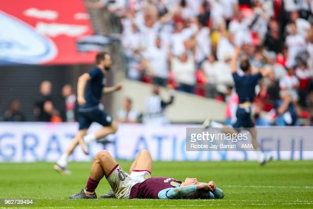 A dejected Jack Grealish of Aston Villa at full time during the Sky Bet Championship Play Off Final between Aston Villa and Fulham at Wembley Stadium...