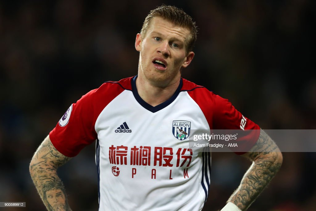 A dejected James McClean of West Bromwich Albion after going from 0-1 to ending the match 2-1 during the Premier League match between West Ham United and West Bromwich Albion at London Stadium on January 2, 2018 in London, England.