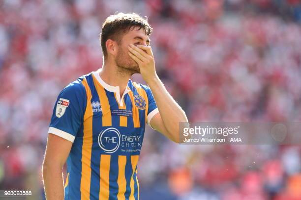 A dejected Joe Riley of Shrewsbury Town during the Sky Bet League One Play Off Final between Rotherham United and Shrewsbury Town at Wembley Stadium...
