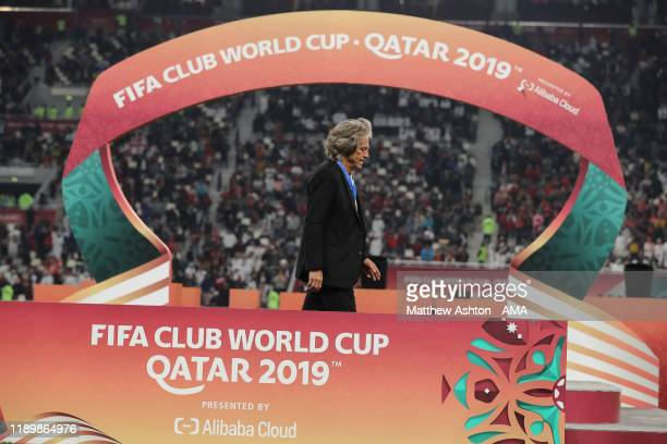 A dejected Jorge Jesus the head coach / manager of CR Flamengo during the FIFA Club World Cup Qatar 2019 Final match between Liverpool FC and CR...