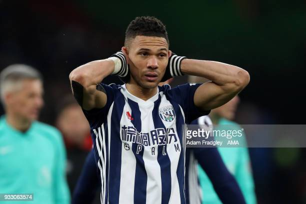 A dejected Kirean Gibbs of West Bromwich Albion during the Premier League match between AFC Bournemouth and West Bromwich Albion at Vitality Stadium...