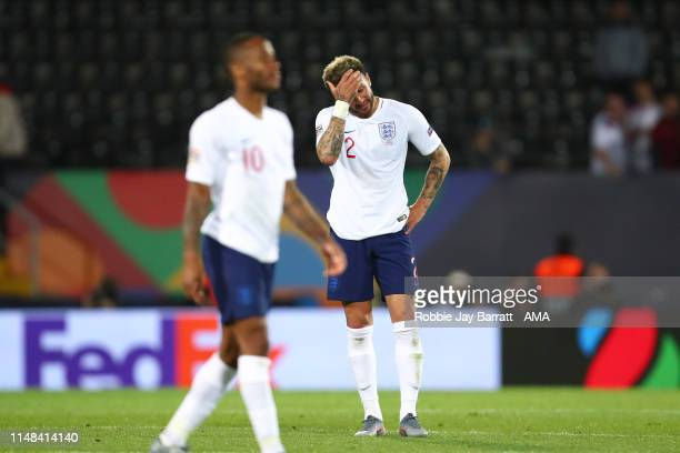A dejected Kyle Walker of England at the end of the UEFA Nations League SemiFinal match between the Netherlands and England at Estadio D Afonso...
