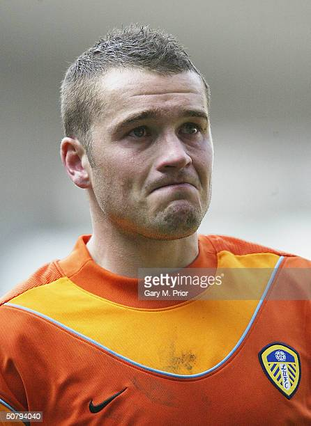 Dejected Leeds United goalkeeper Paul Robinson holds back the tears after the FA Barclaycard Premiership match between Bolton Wanderers and Leeds...