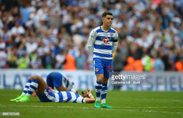 A dejected Liam Kelly of Reading during the Sky Bet Championship Play Off Final match between Reading and Huddersfield Town at Wembley Stadium on May...