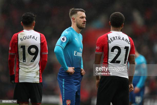 A dejected looking Aaron Ramsey of Arsenal during the Premier League match between Southampton and Arsenal at St Mary's Stadium on December 10 2017...